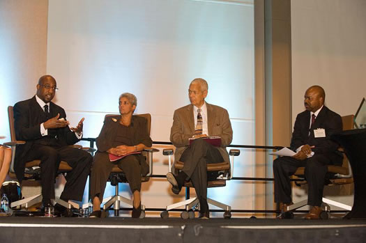 Raphael Warnock, Shirley Franklin, Julian Bond, and Johnny Hill reflect on the Black Freedom Struggle.