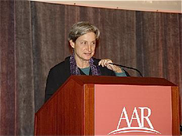 """Judith Butler delivers her plenary address, \""""New Thoughts on Solidarity.\"""""""