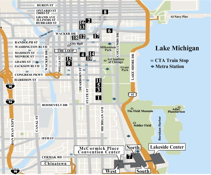 Where To Stay In Chicago - Chicago hotels map