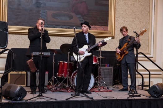 The Kingsnakes Trio play Chicago Blues for the AAR Welcome Reception.